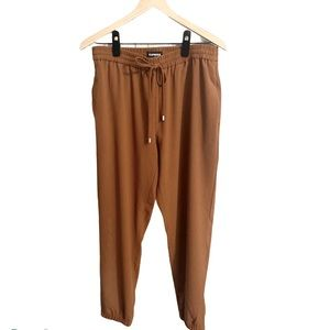 Express ankle high rise pants cinnamon brown M NWT